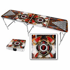 Fire Fighter Beer Pong Table