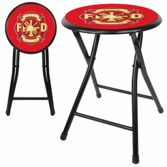 Fire Fighter Fireman18 Inch Cushioned Folding Stool
