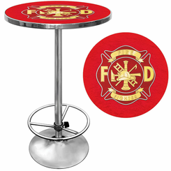 Fire Fighter Fireman Pub Table