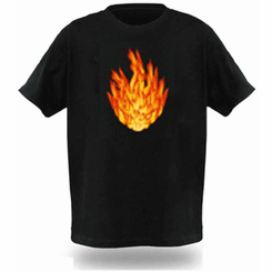 Fire Light Up LED Shirt