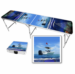Fishing Marlin Beer Pong Table