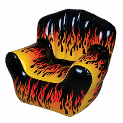 Flame Print Inflatable Chair