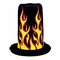 Flame Stovepipe Hat