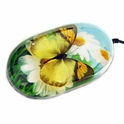 Flower Background Butterfly Computer Mouse