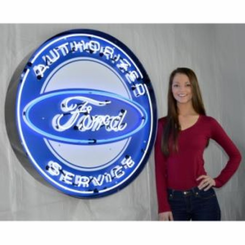 Ford 36 Inch Neon Sign in Metal Can