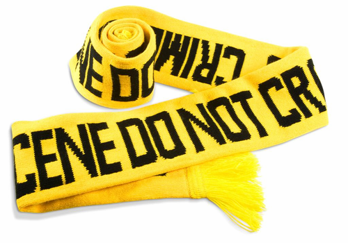 Fuzz Crime Scene Scarf - Click to enlarge