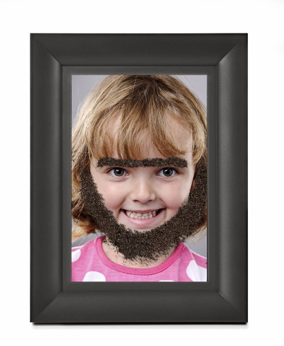Fuzzy Face Magnetic Photo Frame - Click to enlarge