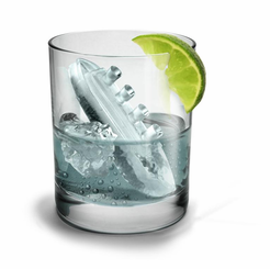 Gin and Titonic Titanic ship ice cube tray molds