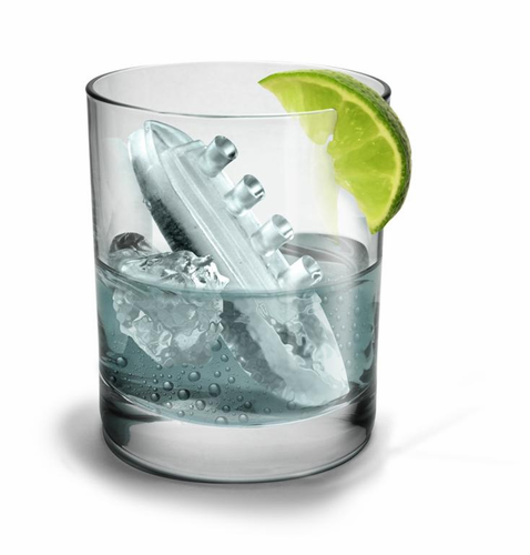 Gin and Titonic Titanic ship ice cube tray molds - Click to enlarge
