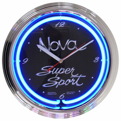 Gm Chevy Nova Neon Clock