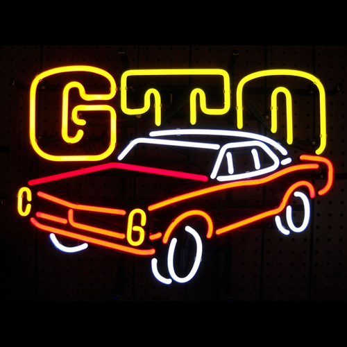 Gm Gto Automobile Neon Sign - Click to enlarge