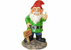 Go Away! Middle Finger Lawn Gnome