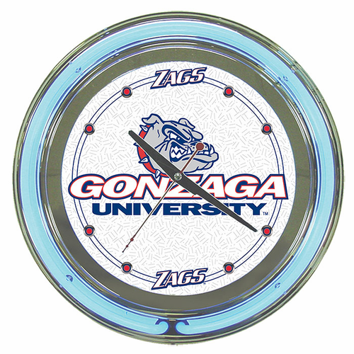 Gonzaga University Neon Clock - Click to enlarge