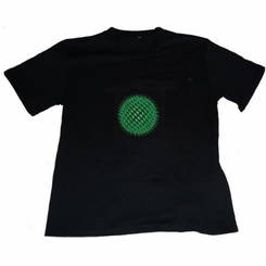 Green Orb Light Up LED Shirt
