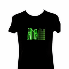 Green Speakers Light Up LED Shirt