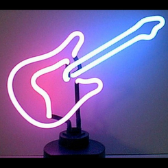 Guitar Neon Lamp - Battery Powered