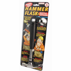 Hammer Flask, Bottle Opener &  Ice Crusher Bar Tool