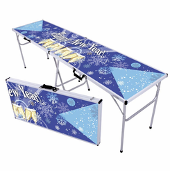 Happy New Year Toast Beer Pong Table