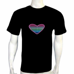 Heart Light Up LED Shirt