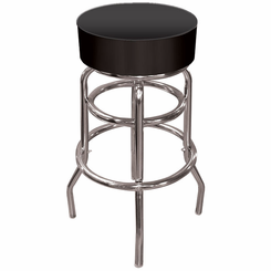 High Grade Black Padded Bar Stool