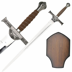Highlander Sword of Macleod with Wall Plaque