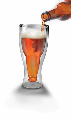 hopside upside down beer glass - Click to enlarge