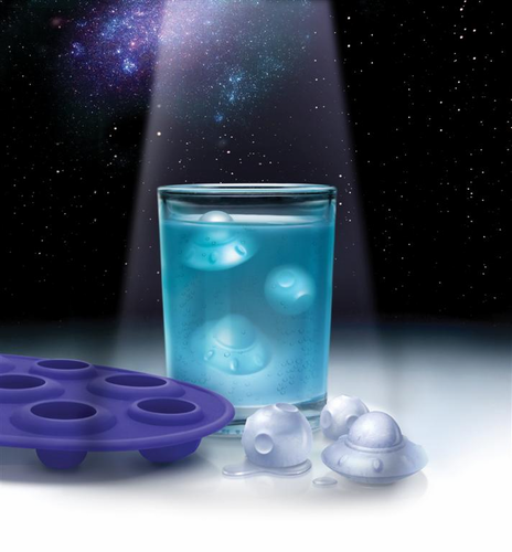 ice attacks UFO ice cube tray molds - Click to enlarge