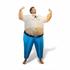 Inflatable Personal Trainer Costume