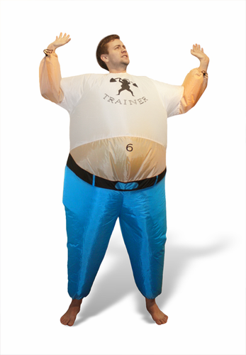 Inflatable Personal Trainer Costume - Click to enlarge