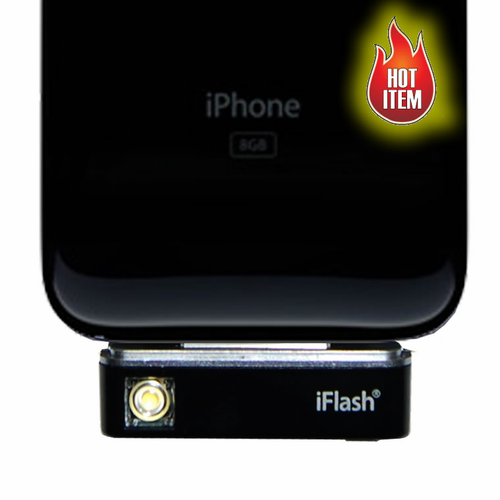 iPhone Camera Flash & Real LED Flashlight - Click to enlarge