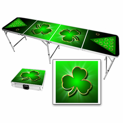 Irish Shamrock Beer Pong Table