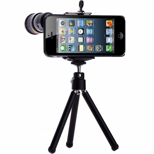 iScope 8x Zoom for iPhone 5 with Tripod - Click to enlarge