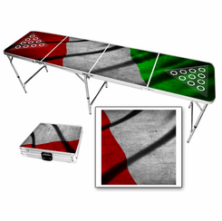 Italian Flag Vintage Beer Pong Table