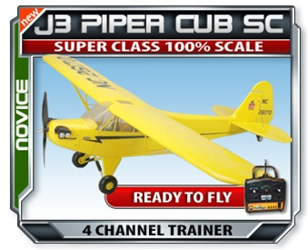 J3 Piper Cub Super Class Electric RTF RC Plane - Click to enlarge