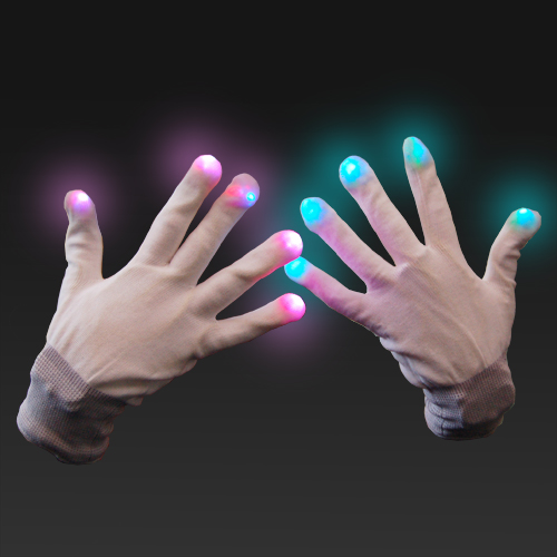 LED Gloves - Click to enlarge