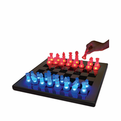 LED Glow Chess Set Blue and Red SUP-LEDCHES-BR