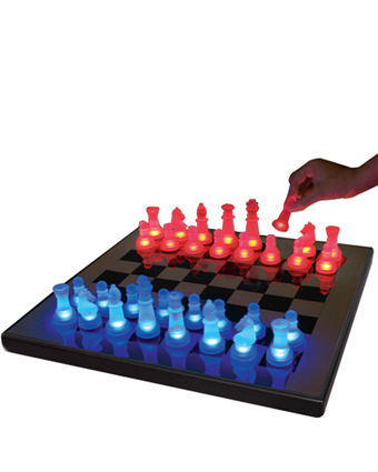 LED Glow Chess Set Blue and Red SUP-LEDCHES-BR - Click to enlarge