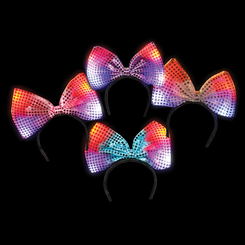 Light Up Flashing Bow Headband