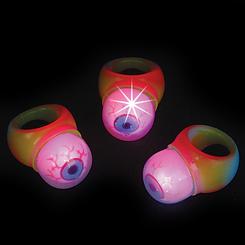 Light Up Flashing Jelly Eyeball Rings (12)