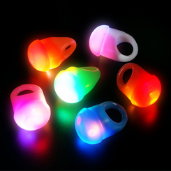 Light Up Flashing Jelly LED Rings (12)