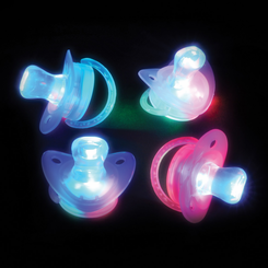 Rainbow Light Up Flashing Joke Novelty Pacifier