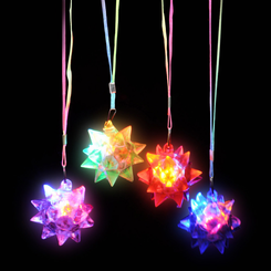 Light Up Flashing Star Necklace