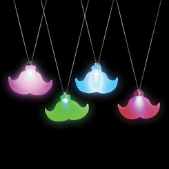 Light-Up Mustache Necklace