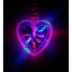 Light Up Tunnel Heart Necklace