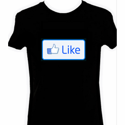 Like Thumbs Up Light Up LED Shirt