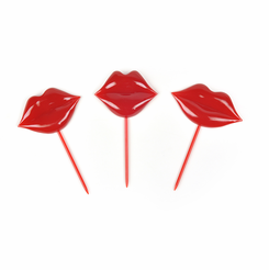 Lips Kisses Party Picks Toothpicks