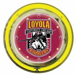 Loyola University Chicago Neon Clock