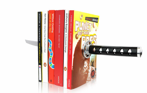 Katana Samurai Sword Magnetic Bookends  - Click to enlarge