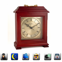 Mantle Clock IP Hidden Camera w/ DVR - Live View Series
