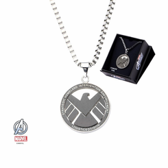 Marvel Shield Pendant Necklace with 24 inch Chain